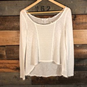 Aeropostale |  White Hi-Lo Sweater
